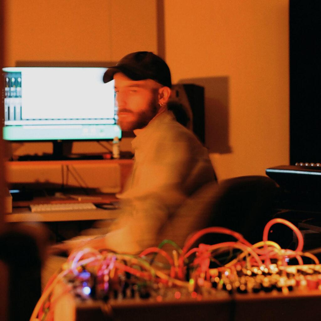 Priori in his studio
