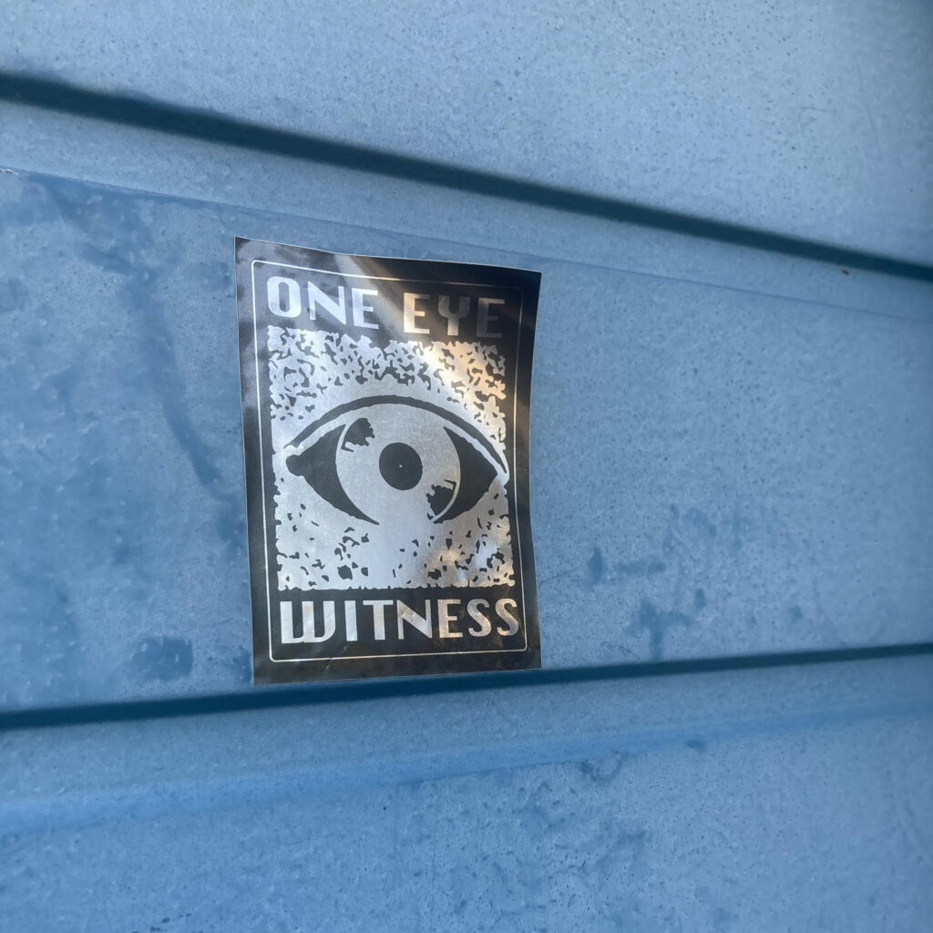 One Eye Witness logo sticker